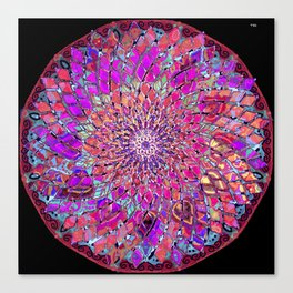 sacred geometry-Eye flower mandala-nature-healing-energy-quantum-vitrage effect Canvas Print