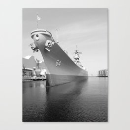 USS WISCONSIN photography Canvas Print