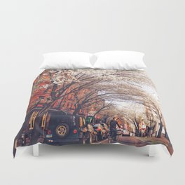 NYC Cherry Blossoms on the Lower East Side Duvet Cover