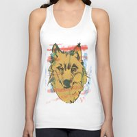 howl Tank Tops featuring HOWL by Galvanise The Dog