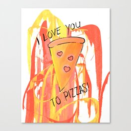 I Love You to Pieces 2 Canvas Print
