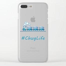 #ChugLife Blue Train Clear iPhone Case