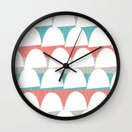 Shroom stripes Wall Clock