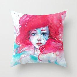 Princess Ariel - Little Mermaid has no tears Throw Pillow