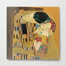 The Famous Kiss by Gustav Klimt Metal Print