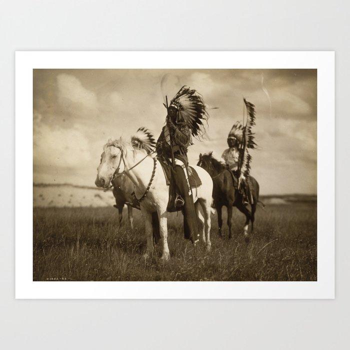 Sepia Toned Indian Photo Art Print