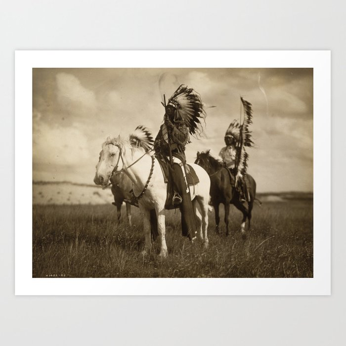 Sepia Toned Indian Photo Art Print