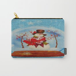Snowman in a Snowglobe Carry-All Pouch