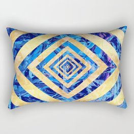 Abstract Crystals Pattern Rectangular Pillow