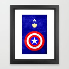 Captain America: Avengers Movie Variant Framed Art Print