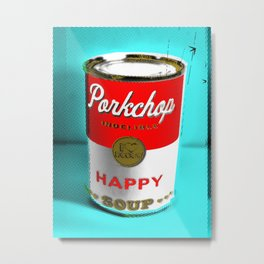CONDENSED HAPPY Metal Print