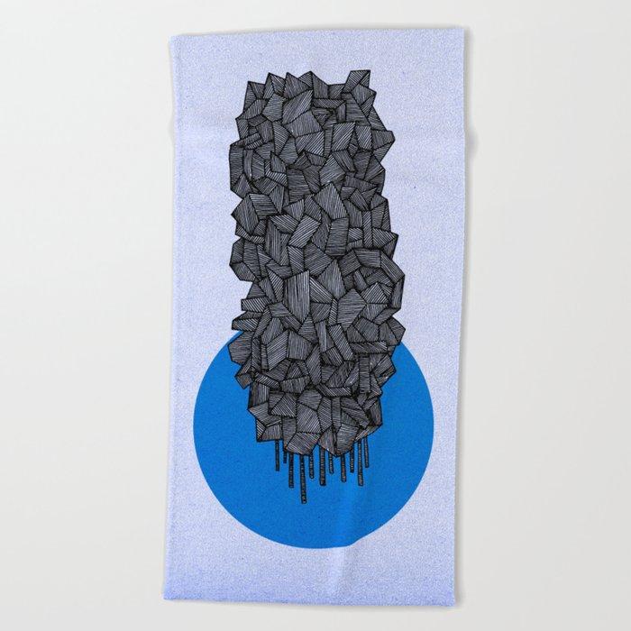 - future grey - Beach Towel