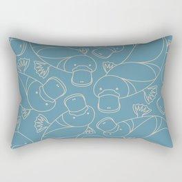 Minimalist Platypus Rectangular Pillow