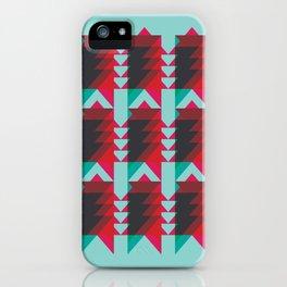 'Ziggy' - Teal & Pink Geometric iPhone Case