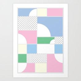 Geometric Calendar - Day 50 Art Print