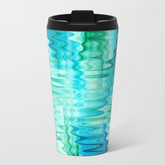 Water Ripples Abstract Metal Travel Mug