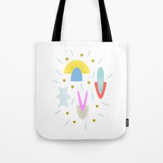 Happy Shroom light Tote Bag