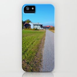 Country road and beautiful panorama | landscape photography iPhone Case