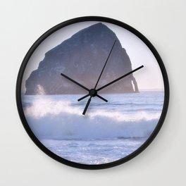 HAYSTACK ROCK - CAPE KIWANDA - PACIFIC CITY - OREGON Wall Clock