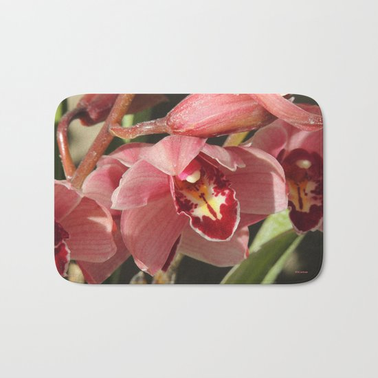 One Orchid on a Line Bath Mat