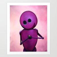 Happy Bot Art Print