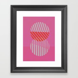 Two Circles Framed Art Print