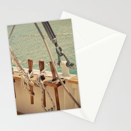 Sailboat Ropes and Lines Color Photo Stationery Cards