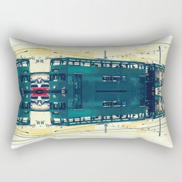 Tramway collage cityscape in Hong Kong Rectangular Pillow