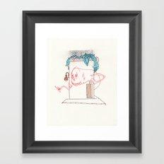 One more small favor Framed Art Print