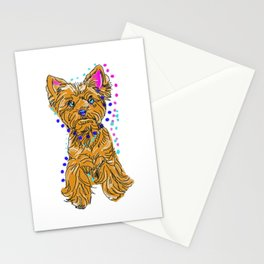 The happy Yorkie Love of My Life - doggie keeps you smiling! Stationery Cards
