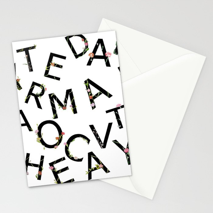 Letters Pattern Stationery Cards