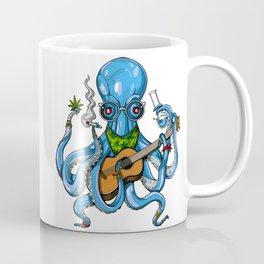Hippie Octopus Smoking Weed Coffee Mug