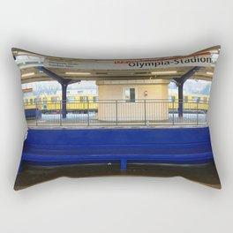 Berlin U-Bahn Memories - Olympia Stadion Rectangular Pillow