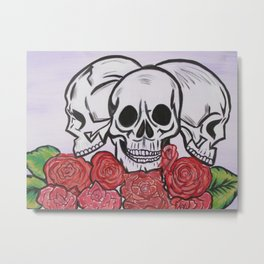 Skull candy Metal Print