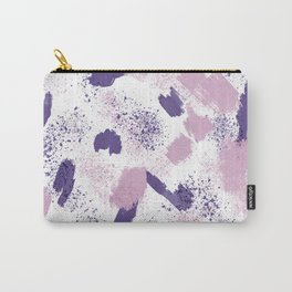 Modern ultra violet pink lavender brushstrokes abstract splatters Carry-All Pouch