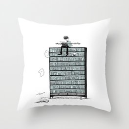 LITTLE DREAMS, BIG BOOKCASE Throw Pillow
