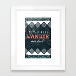 """Wander"" Quote Illustration Framed Art Print"