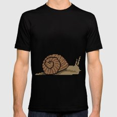 Pixel Snail Black SMALL Mens Fitted Tee