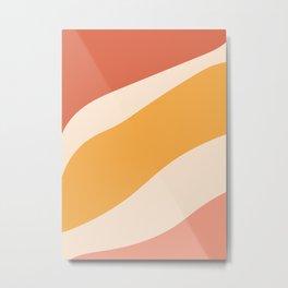 Abstract Sunset in Desert Metal Print