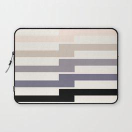Grey Taupe Lightning Bolt Zig Zag Geometric Pattern Minimalist Zen Art Laptop Sleeve