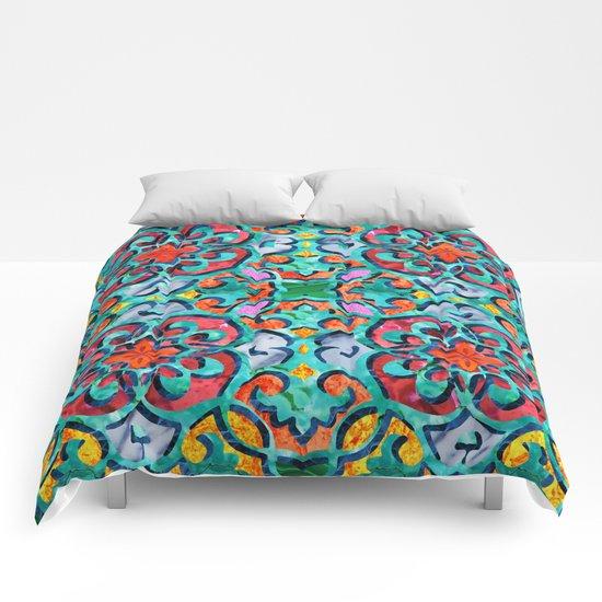 Moroccan Mandala Tile 01 Comforters