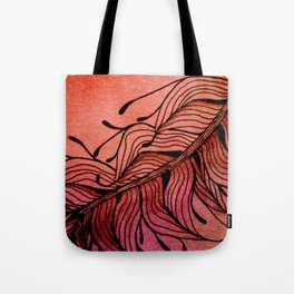 Doodled Autumn Feather 01 Tote Bag