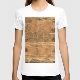 Map Of Jamestown 1856 T-shirt