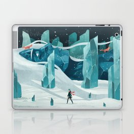 The wanderer and the ice forest Laptop & iPad Skin