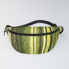 green beige brown yellow abstract striped digital design Fanny Pack