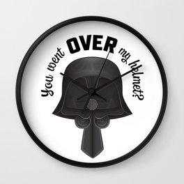 You Went OVER my Helmet? - Dark Helmet Spaceballs Wall Clock