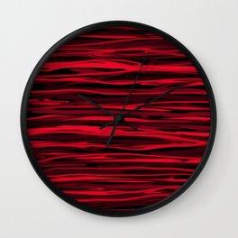 Juicy Red Apple Stripes Wall Clock