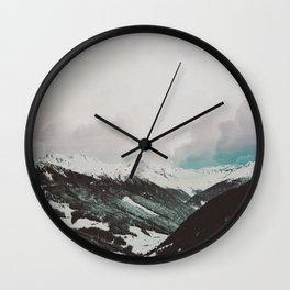 Moody Mountains Wall Clock