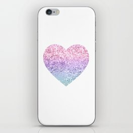 Unicorn Girls Glitter Heart #1 #shiny #pastel #decor #art #society6 iPhone Skin