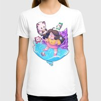 puppycat T-shirts featuring Bee and Puppycat- Dream by merrigel